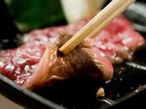 但馬和牛肉の鉄板焼き♪お客様ご自身で焼いて頂きますので、お好きな加減でどうぞ!