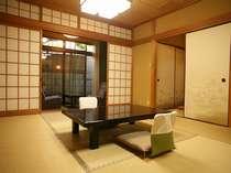 新別館「鶴喜」客室(和室、本間10~12帖・バス・ウォシュレット・次の間・広縁付き)