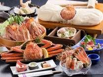 料理イメージ。かにかまくらは大きさにより4名様までで1枚。他のお料理は1人前。