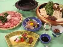 近江牛を使った関西風のすき焼きをお楽しみ下さい。