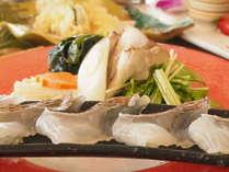 【夕食】桜鯛と紀州ひろめのしゃぶしゃぶ