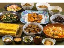 朝食はすべて手作り!!長野の素材を活かしたお料理の数々をお楽しみください!!