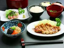 【夕食のみ】朝早い方必見!夕食は地元の食材を使ったボリューム満点日替わり定食でおもてなし♪
