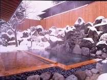 山里乃湯 上段 雪降り