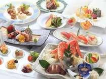 【夕食ビュッフェ】 渚亭のビュッフェは日替わりメニューも充実です