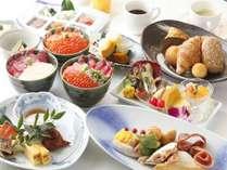 【朝食ビュッフェ】 旅館の朝は、お風呂と朝食!ですよね