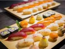【夕食ビュッフェ】 お寿司の人気は不動です