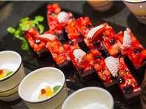 【夕食ビュッフェ】 『前菜にデザート♪』の方増えてます!
