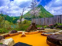四季の移ろいを眺めながら、ゆったりと・・・。珍しいみかん色の湯は源泉掛け流し♪