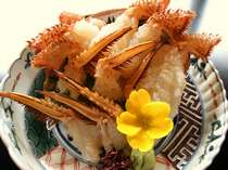 鮮度が命の蟹!お造りは美味!