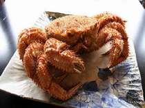 地物湯で毛蟹は濃厚な味わい
