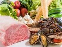 【クリスマス鉄板焼きディナー/1泊2食】県産食材をふんだんに使った「鉄板焼きディナーコース」
