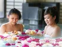 女性限定バラ風呂(15:00~22:00)バラは自家栽培のバラをお入れてます