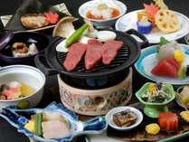 飛騨牛と四季の素材を使った京風会席料理(2016年秋一例)