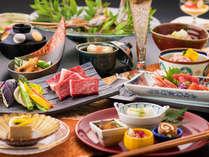 匠の技と四季の恵みが魅せる【純日本懐石】 信州牛の提供は『すき焼き』になります