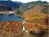 紅葉の湯滝・湯ノ湖