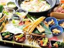 【春:旬菜料理プラン】地元妙高の高原野菜、地場産の山菜を堪能!