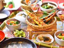 2018年 春:旬菜料理プランの献立一例