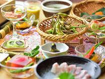 2021 夏:【旬菜料理プラン】地元野菜や地場産の山菜を堪能