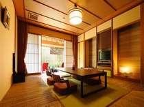 【山ぼうし 和室】竹を敷き詰めた斬新な和室
