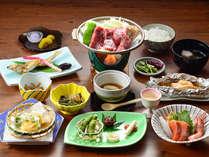 お料理グレードアッププラン♪夕食(一例)旬の山幸を中心とした上州の和食膳をご用意いたします。