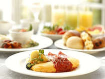 【朝食】那須御養卵を使ったふわとろオムレツは、朝食バイキングの1番人気!