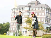 【春満喫☆ゴルフパック】ゴルフ場を眺めながら贅沢滞在&もちろんプレイも楽しめちゃう!貸切風呂無料♪