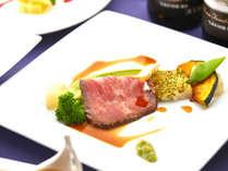 【夕食】とちぎ和牛のローストビーフをお楽しみください。
