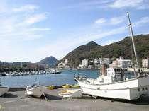 目の前の港。