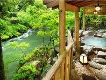 「百間の湯」天然温泉、木漏れ日、清流を抜ける風…全てを体感する贅沢