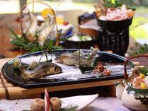 ★お料理一例。料理をグレードアップした料理長おすすめ会席「しずく」