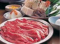 本場但馬牛のすき焼きを堪能してください。