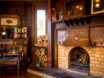 ◆暖炉◆冬はロビーで暖かくお客様をお迎えいたします。