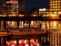 ■屋形船■夜の三隈川に映る灯りと広がる静寂…『200年の伝統』を誇る船上の大宴会がはじまります!