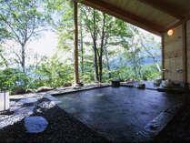 絶景貸切露天♪♪正面には南アルプス、右手に蓼科山。標高1750m!雲上の天然温泉露天風呂は無料貸切!