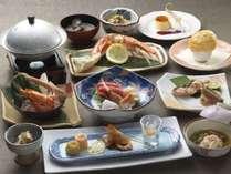 和食会席一例/オホーツクの海の幸や近隣の農産物を中心とした和食会席。