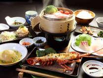 【夕食】スタンダード+伊勢海老鬼殻焼き一例