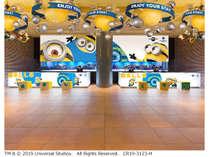 ユニバーサル・スタジオ・ジャパンで大人気のミニオンたちがホテルのロビーでハチャメチャ大さわぎ!