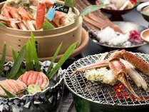 【鳳凰加能ガニ懐石/一例】活加能蟹をカニ刺し、蒸しガニ又は茹でガニ、焼きガニで!※写真は2人分