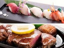 本館【祝・北陸新幹線開業1周年】金澤かがやき懐石 ~金沢の美味しい寿司と和牛ステーキで贅沢に~