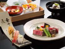 鳳凰贅沢懐石:和牛ヒレステーキと寿司をお楽しみいただける、贅沢な鳳凰懐石です/写真イメージ
