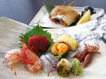 本館【魚がおいしい宿自慢の造り七種盛りとのどぐろ塩焼付】~日本海ごちそう懐石プラン~