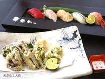 本館【春限定】天ぷら~春山菜や加賀野菜~&旬魚の寿司付金澤春懐石