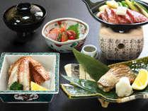 のどぐろ塩焼き、和牛ステーキ、毛蟹。人気食材が献立に入る金澤懐石の特別バージョンです。