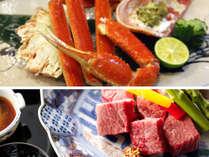 新館【蟹も食べたい!肉も食べたい方!】活蟹たっぷり半杯&A5ランク和牛ヒレステーキ付鳳凰懐石