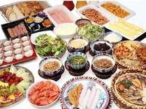 地元の食材、手作りの料理。品数も豊富な和洋メニューの朝食バイキング