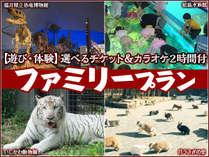 【遊び・体験】選べるチケット&カラオケ2時間付ファミリープラン