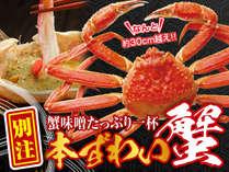 ずわい蟹1杯付プラン