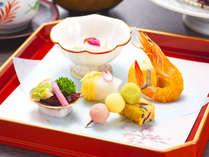 日本料理「姫沙羅」でのディナーの一例