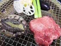宮城・三陸 海の幸を食べつくす!□■あわび・牛タン炭火焼きプラン■□